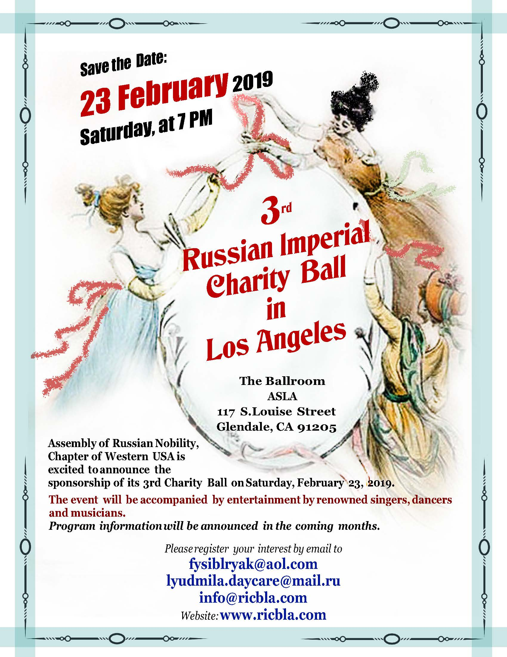 3rd Russian Imperial Charity Ball